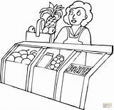 Grocery Coloring Pages Seller Printable Drawing Colouring Phones Devices Getdrawings Popular sketch template