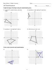 geometry transformations practice worksheet