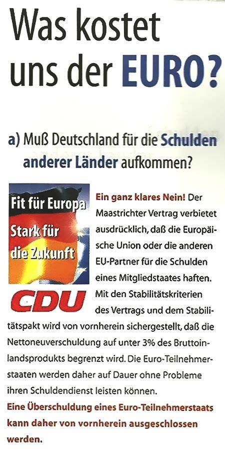 Was Kostet Uns Der Euro?  Die Cdu Erklärt's ⋆ Kotzendes