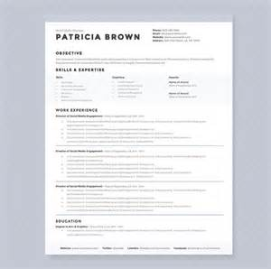 free modern resume template docx format clean resume template pkg resume templates on creative market