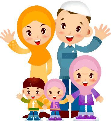 Inilah Wallpaper Kartun Keluarga Islami