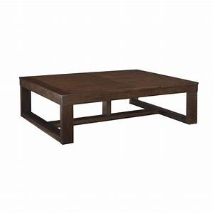 Ashley watson coffee table in dark brown t481 1 for Ashley watson coffee table