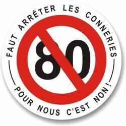 Petition 80 Km H : autocollant non 80 km h ~ Medecine-chirurgie-esthetiques.com Avis de Voitures