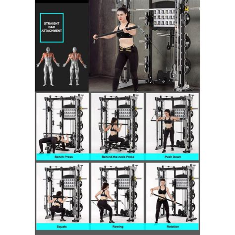counter weight smith rack multi gym trainer combo directhomegym