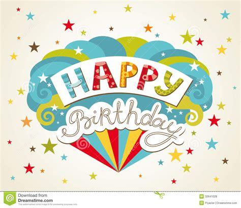 birthday card design happy birthday greeting card stock vector illustration