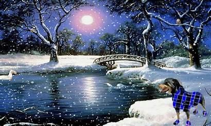 Winter Animated Cascade Holidays Background Desktop Gifs