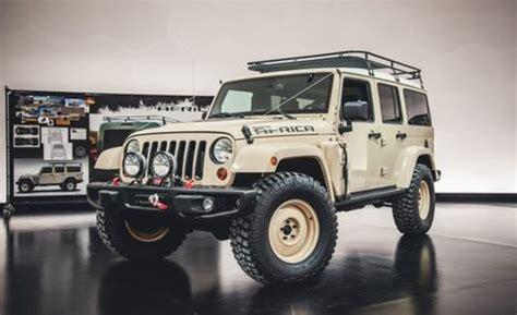 jeep wrangler africa concept built  safari news car  driver