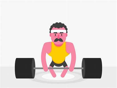 Weightlifting Animation Clipart Weightlifter Gifs Character Transparent