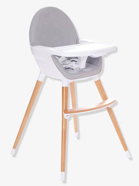 vertbaudet chaise haute chaise haute évolutive 2 hauteurs topseat gris vertbaudet
