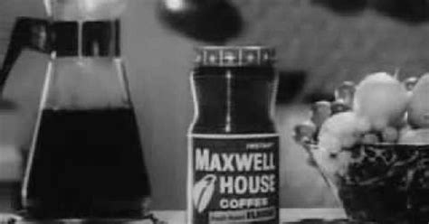 Vintage Old 1950's Instant Maxwell House Coffee Commercial Retro Glass Coffee Mugs Cups Branded Free Games Cup Jokes Liverpool Barista Zacatlan Gif
