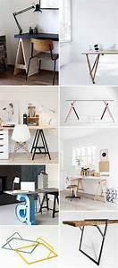 Créer Son Bureau Ikea : 39 id es d co de tr teaux pour cr er une table ou un bureau ~ Melissatoandfro.com Idées de Décoration
