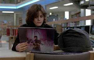 Ally Sheedy looking at Prince's '1999' album in The ...