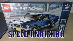 LEGO Creator Expert FORD MUSTANG 10265: SPEED UNBOXING! - YouTube