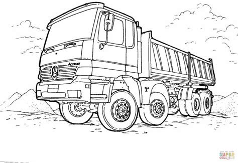 printable semi trailer coloring pages