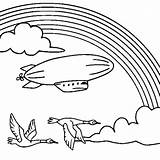 Blimp Coloring Rainbow Drawing Behind Nice Airship Pages Template Drawings Library Clipart Getdrawings sketch template