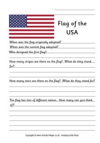 United States Flag Printables For Kids