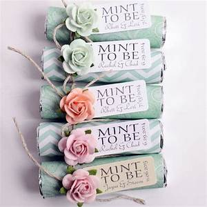 mint wedding favors set of 100 mint rolls quotmint to be With wedding favors mint to be