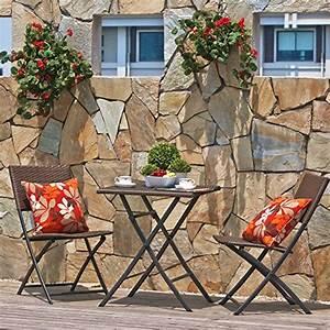 Balkonmöbel Set Klappbar : terrasse balkonm bel faltbare bistro m bel sets holz harz und rattan gartentisch set 3 ~ Markanthonyermac.com Haus und Dekorationen