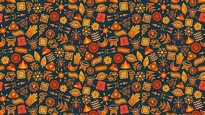 Pattern Ethnic Symbols 4k Background Magic Wallpapers