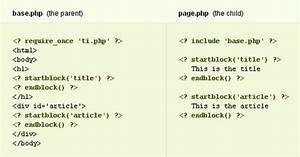 php template inheritance makes reusable html layouts web With php template inheritance