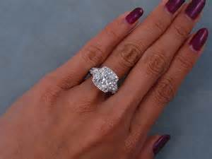 cushion engagement ring 4 14 ctw cushion cut engagement ring h si1
