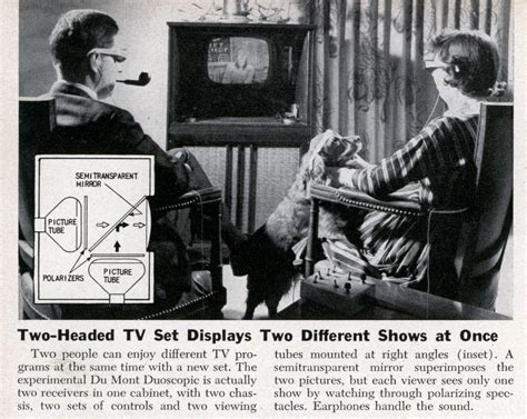 Two-headed Tv Set Displays Two Different Shows At Once