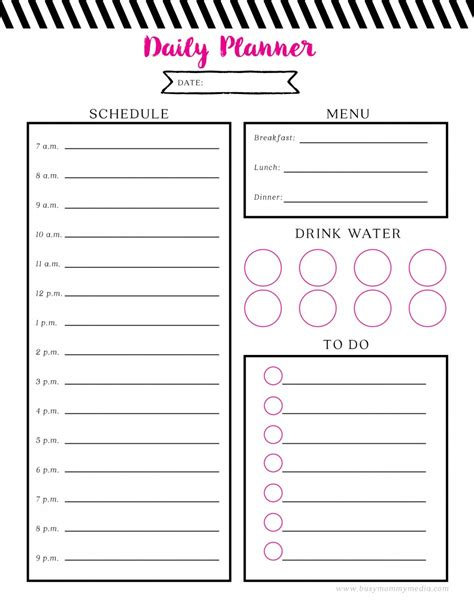 free daily calendar 2015 free printable daily planner