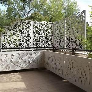Claustra De Jardin : claustra en aluminium de terrasse de jardin sur ~ Premium-room.com Idées de Décoration