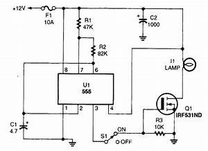 Headlight Flasher - Led And Light Circuit - Circuit Diagram