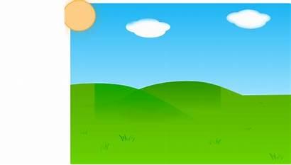 Background Farm Meadow Plain Clipart Cartoon Land