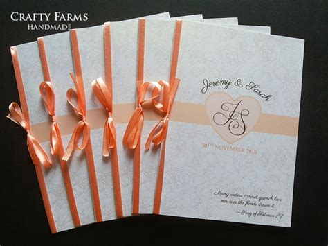 wedding card malaysia crafty farms handmade peach