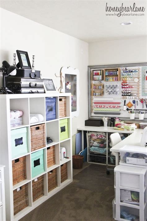 Craft Studio Tour Honeybear Lane  Craft Storage Ideas
