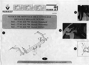1998 Megane I France Notice Montage Utilisation Attelage