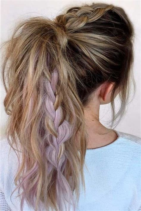 Chunky Braid Ponytail The Coolest Ponytail Hairstyles