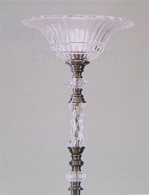 torchiere floor l light 71 quot stand pewter crystal post
