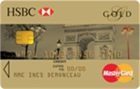 plafond carte gold mastercard les cartes bancaires hsbc comparatif cartes bancaires