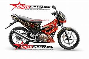 Modif Striping Suzuki Satria Fu 150 Ala Spiderman