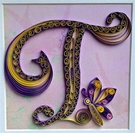quilled letter  created  mm strips  paper quilling letters quilling quilling