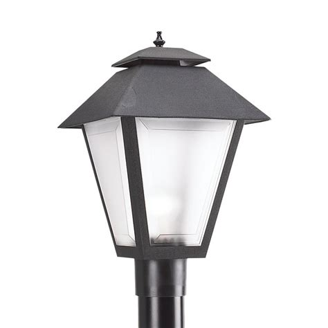 post lights lowes shop sea gull lighting 18 in h black post light at lowes