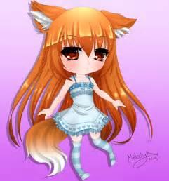 Anime Chibi Fox Girl