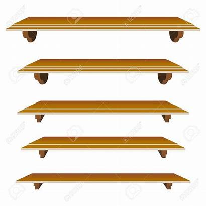Shelf Clipart Cabinet Wood Vector Clip Empty