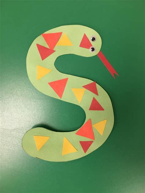 letter  craft snake preschool pets preschool theme