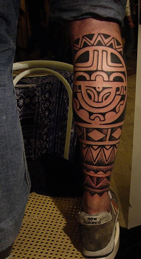 maori leg tattoos ideas