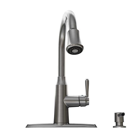 stainless faucets kitchen shop standard soltura stainless steel 1 handle