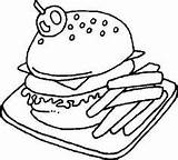 Coloring Printable Drink Sandwich Whipped Topping sketch template