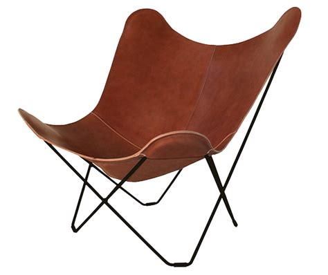 Cuero lounge chair. Butterfly. Design Lounge.
