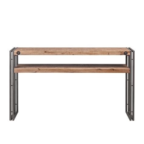 Konsole Holz Metall by Konsole Akazie Massiv Metall Holz Braun Anrichte Sideboard