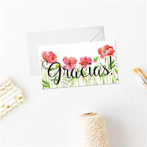 tarjeta de agradecimientos tarjeta de agradecimiento modelo amapolas con o sin sobre