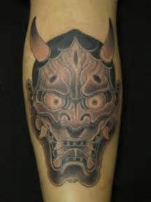 Japanese Demon Face Tattoos