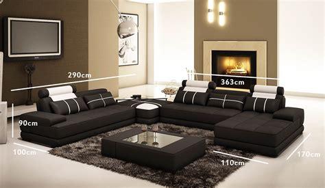 coloration canapé cuir deco in canape d angle cuir noir et blanc design
